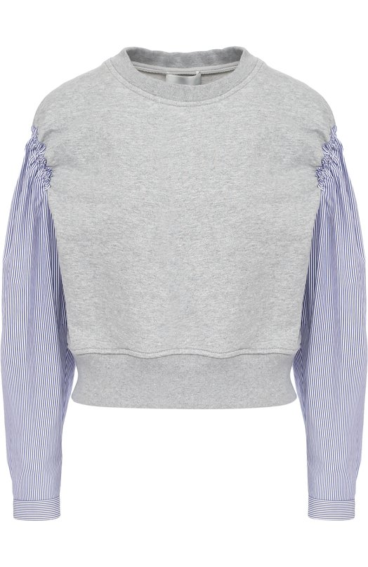 Укороченный пуловер с рукавами в полоску 3.1 Phillip Lim S171-1755FTY