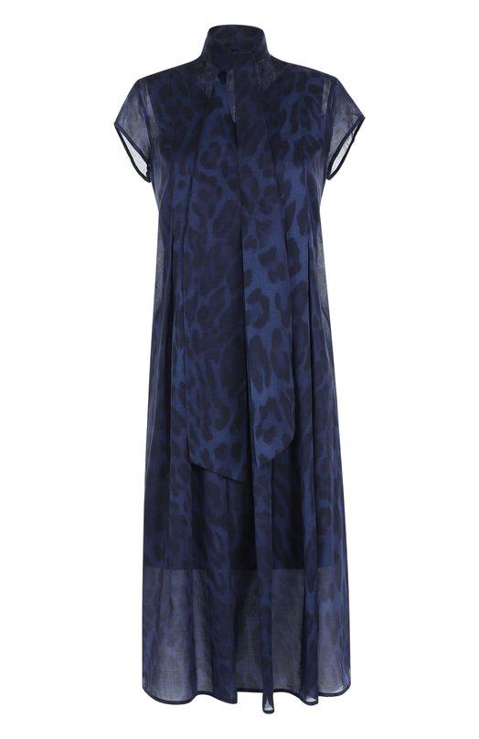 Купить Платье свободного кроя с принтом и воротником аскот Escada Sport Китай 5171178 5023617