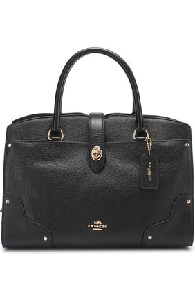 Сумка Mercer Satchel 24 Coach черная | Фото №1