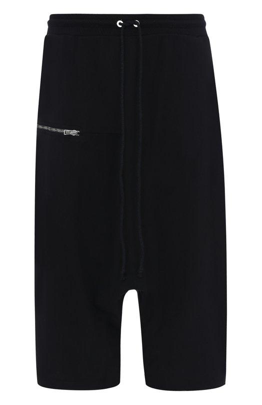 Купить Хлопковые шорты свободного кроя с заниженной линией шага Lost&Found, 337.648R, Италия, Черный, Хлопок: 100%;