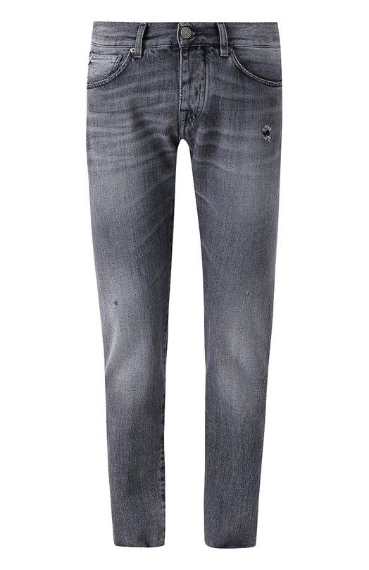 Джинсы прямого кроя с потертостями 2 Men Jeans A0378/PEZUL