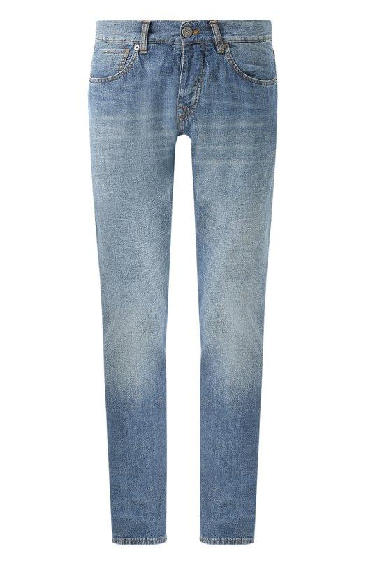 Джинсы прямого кроя с контрастной прострочкой 2 Men Jeans P0129/PETUD