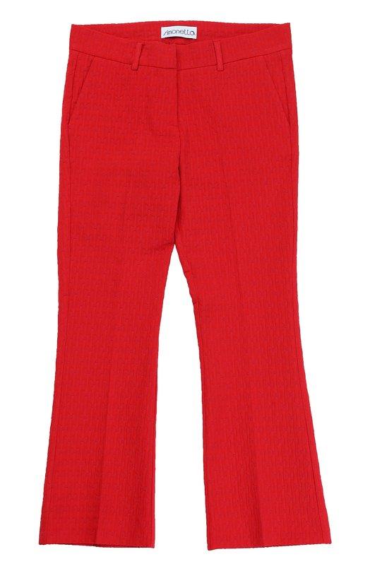 Укороченные расклешенные брюки фактурной вязки Simonetta 1G6201/GC670/12-16