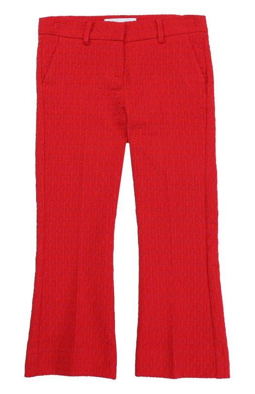 Укороченные расклешенные брюки фактурной вязки Simonetta 1G6201/GC670/4-6