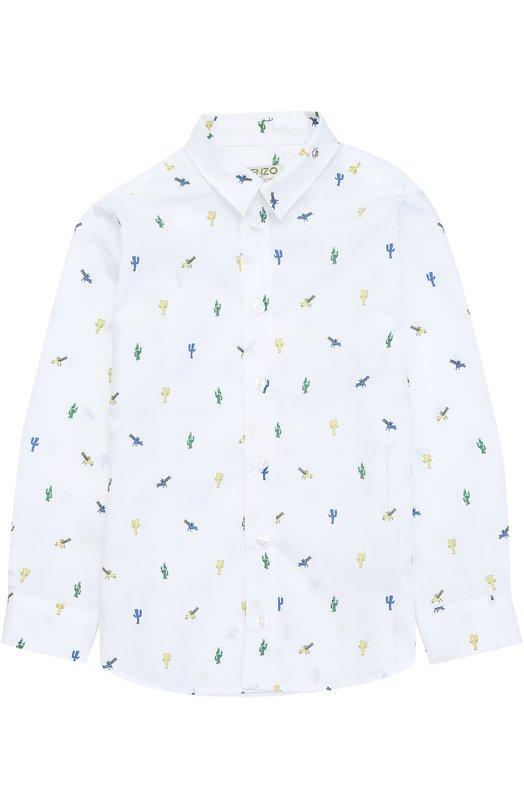 Хлопковая рубашка с принтом Kenzo KJ12528/2A-6A
