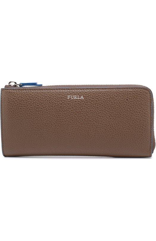 Кожаное портмоне на молнии с отделениями для кредитных карт и монет Furla PO50