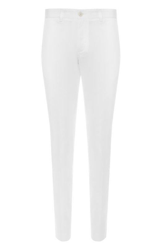 Хлопковые брюки прямого кроя Moncler C1-091-11500-90-57448