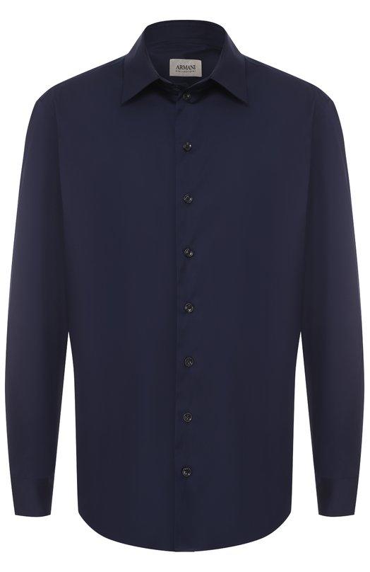 Хлопковая рубашка с воротником кент Armani Collezioni VCSS0L/VC5F8