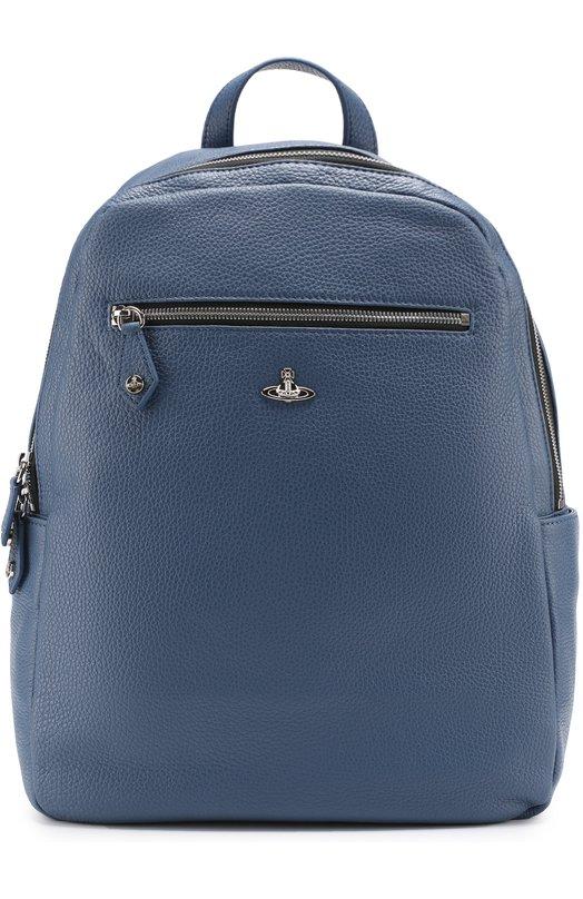 Кожаный рюкзак с внешними карманами на молнии Vivienne Westwood 131178/10109