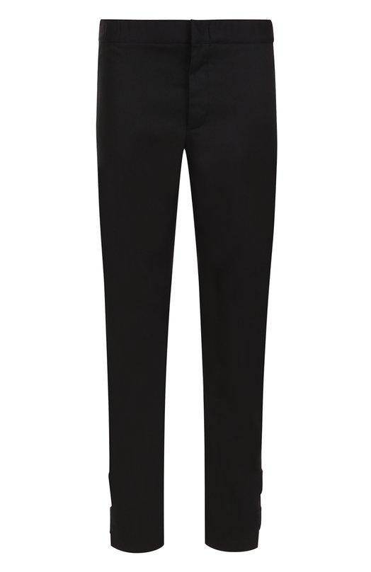 Хлопковые брюки прямого кроя с поясом на резинке Valentino NV3RB545/2M1