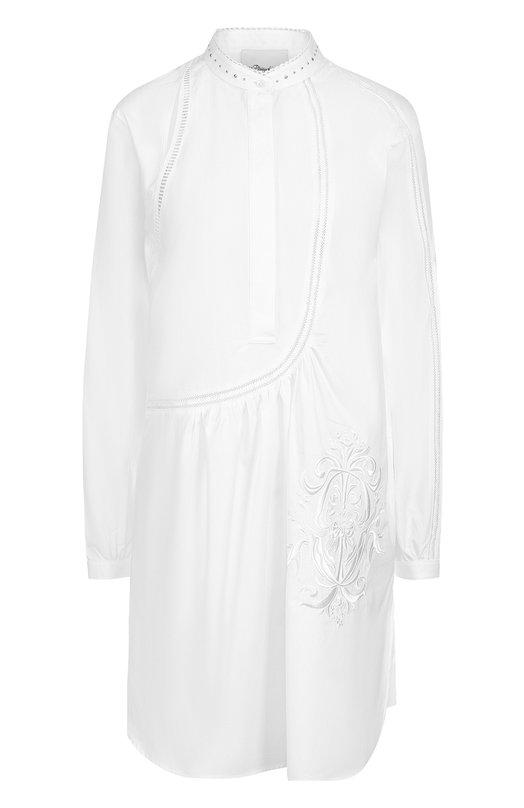 Удлиненная хлопковая блуза с разрезами 3.1 Phillip Lim S172-9267C0T