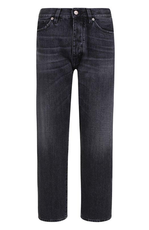 Купить Укороченные джинсы прямого кроя с потертостями Two Women In The World, S0101/PEZNE, Италия, Серый, Хлопок: 100%;
