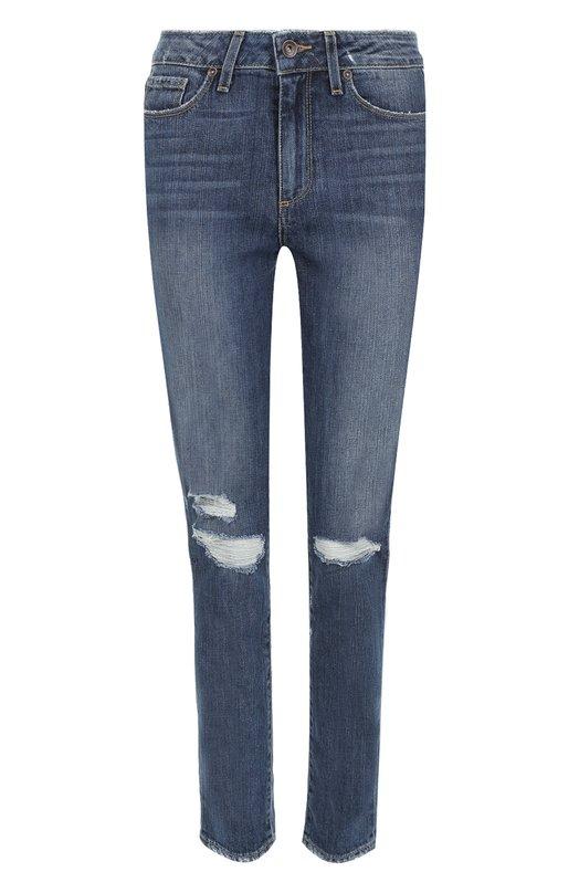 Купить Укороченные джинсы-скинни с потертостями Paige, 2566001-4696, США, Синий, Хлопок: 98%; Эластан: 2%;