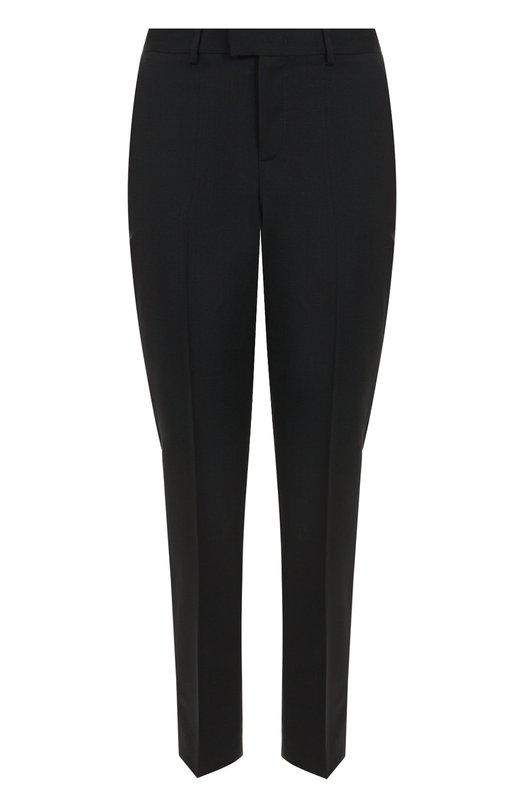 Купить Укороченные брюки прямого кроя со стрелками REDVALENTINO, NR3RB0B0/15N, Румыния, Черный, Шерсть: 98%; Эластан: 2%;