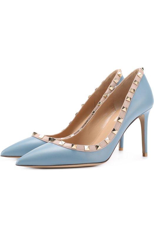 Купить Кожаные туфли Rockstud на шпильке Valentino Италия 5167873 NW1S0A04/V0D