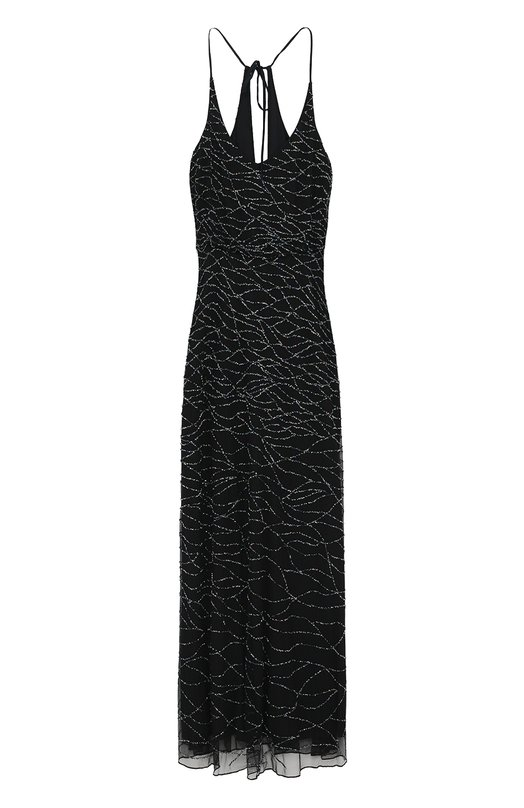 Платье-макси с контрастной вышивкой бисером Armani Collezioni VMA85R/VM990