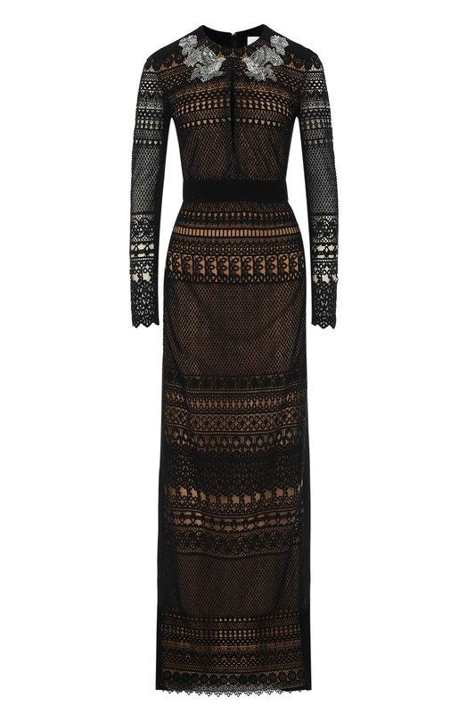 Купить Кружевное платье-макси с длинным рукавом Zuhair Murad Италия 5163237 RDRS17-412-DL/ZM_S17412DL_MAC