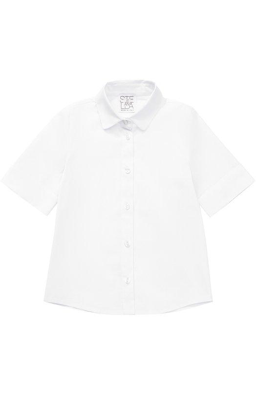 Блуза из эластичного хлопка с отворотами Stella Jean JB015/VEGA/2A-6A