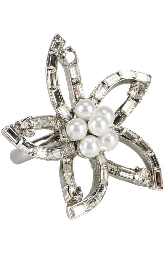 Кольцо с отделкой из жемчуга и кристаллов Swarovski Oscar de la Renta P17J408CRT