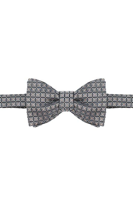 Купить Шелковый галстук-бабочка с узором Eton, A000 24003, Великобритания, Коричневый, Шелк: 100%;