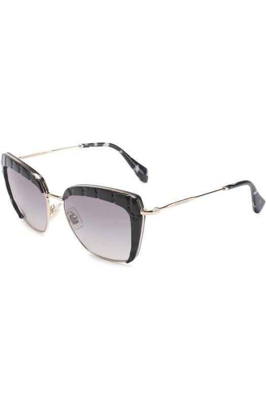 Купить Солнцезащитные очки Miu Miu, 52QS-USW3M1, Италия, Черный