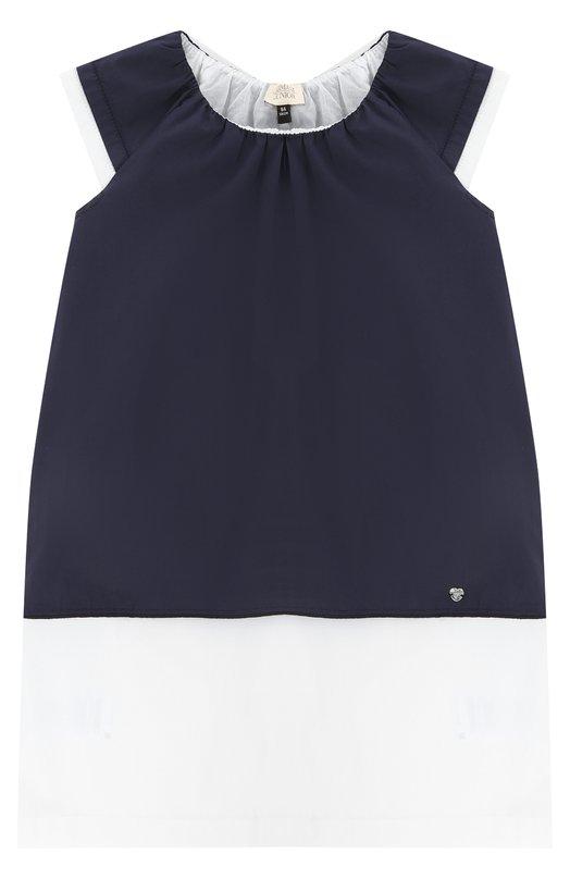 Платье свободного кроя с контрастной отделкой Giorgio Armani 3Y3A04/3NCHZ/4A-10A