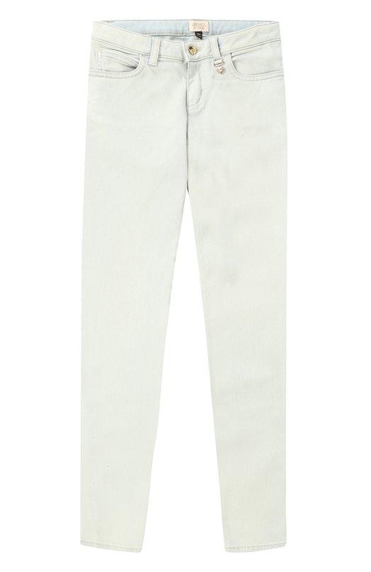 Однотонные джинсы зауженного кроя Giorgio Armani 3Y3J42/3D02Z/4A-10A