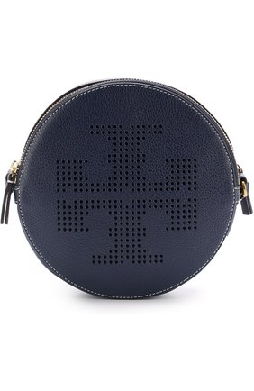 Сумка Perforated-Logo Tory Burch синяя | Фото №1