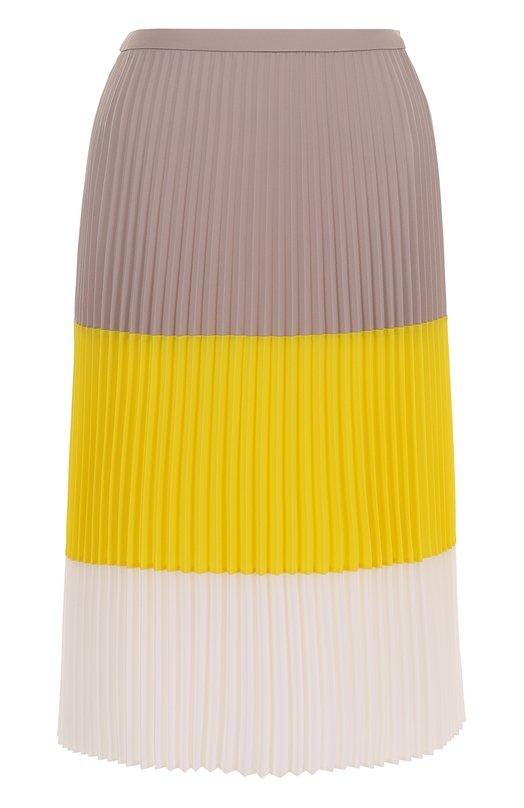 Плиссированная юбка-миди в полоску HUGO 50368462