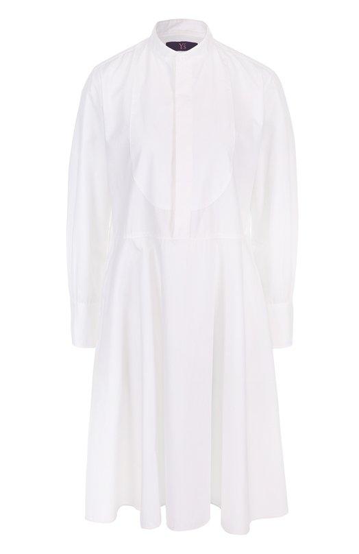 Платье-рубашка с воротником-стойкой Yohji Yamamoto YX/B40/034