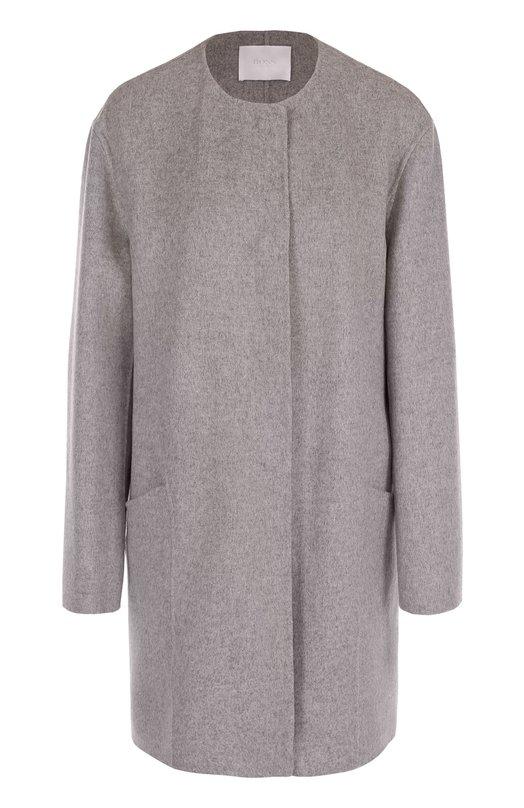 Пальто прямого кроя с круглым вырезом HUGO 50330427