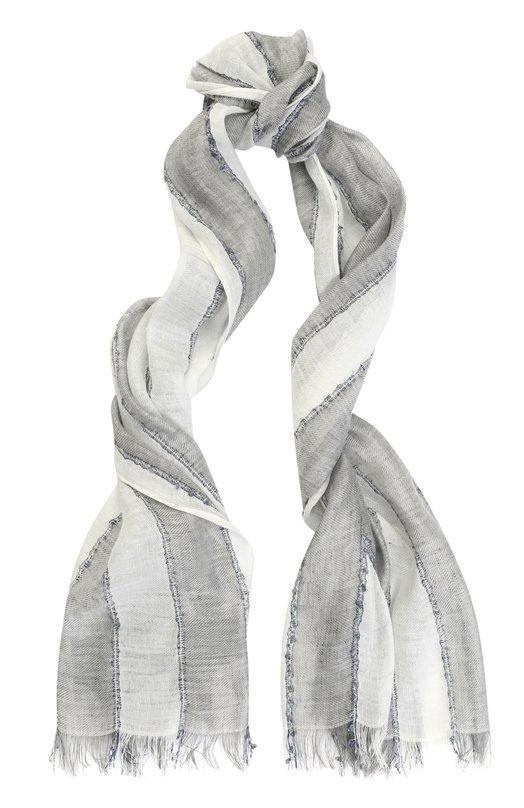 Шарф из смеси льна и вискозы в полоску Armani Jeans 934072/7P711