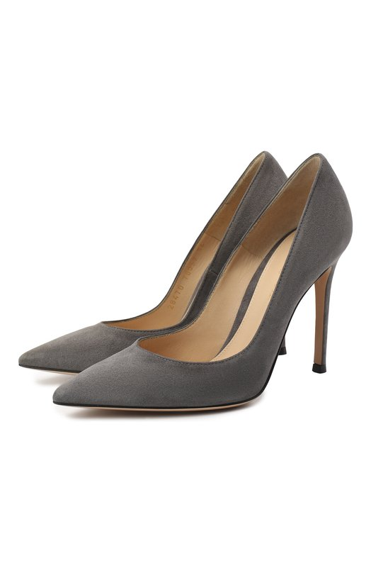 Купить Замшевые туфли Gianvito 105 на шпильке Gianvito Rossi, G28470.15RIC.CAM, Италия, Серый, Стелька-кожа: 100%; Подошва-кожа: 100%; Замша натуральная: 100%;