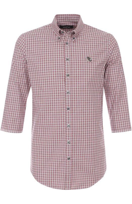 Хлопковая рубашка в клетку с укороченными рукавами Dsquared2 S71DM0055/S47584