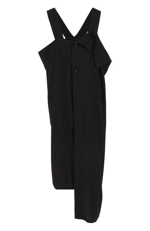 Платье-миди асимметричного кроя Yohji Yamamoto FD-D08-205