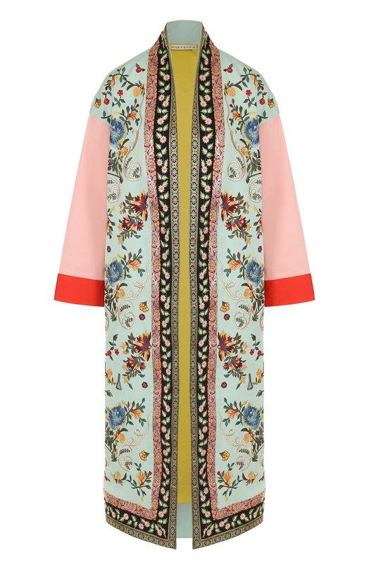 Пальто прямого кроя с контрастной вышивкой Alice + Olivia CC704D77402