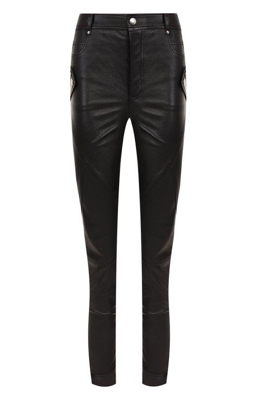 Кожаные брюки-скинни Alexander McQueen 484238/Q5KSG