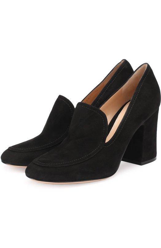 Купить Замшевые туфли Marcel на устойчивом каблуке Gianvito Rossi Италия 5166859 G21199.85RIC.CAM