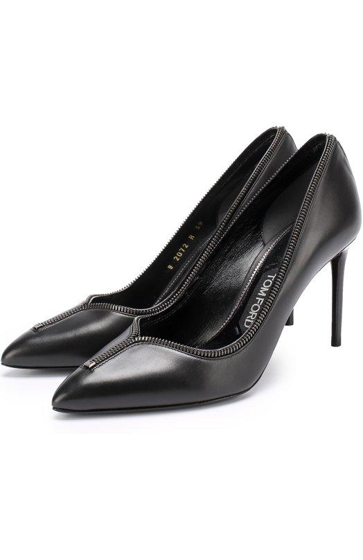 Кожаные туфли Zip на шпильке Tom Ford Tom Ford