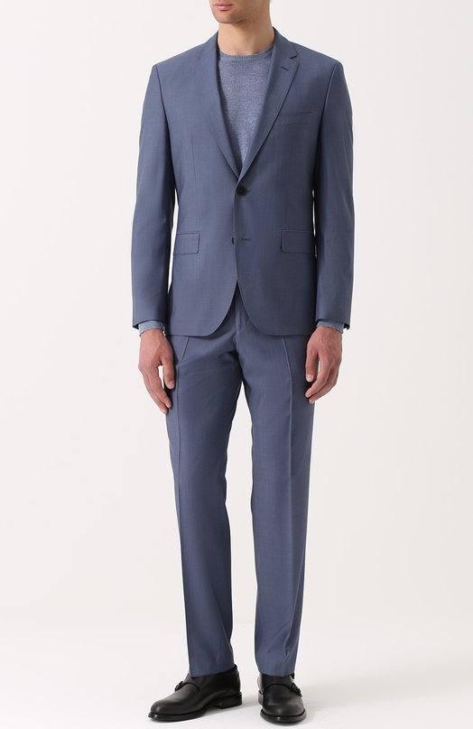 Шерстяной приталенный костюм HUGO 50332655