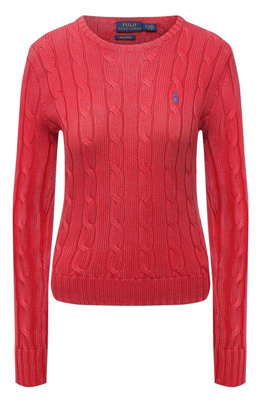 Купить Пуловер фактурной вязки с логотипом бренда Polo Ralph Lauren, 211580009, Китай, Красный, Хлопок: 100%;