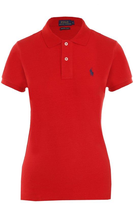 Хлопковое поло с вышитым логотипом бренда Polo Ralph Lauren 211505669