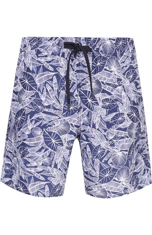 Плавки-шорты с принтом Z Zegna, VM614ZZ481, Китай, Темно-синий, Полиэстер: 100%;  - купить