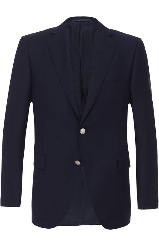 Купить Шерстяной однобортный пиджак Pal Zileri, 93900/32B/62X/2, Италия, Темно-синий, Шерсть: 100%; Подкладка-купра: 100%;