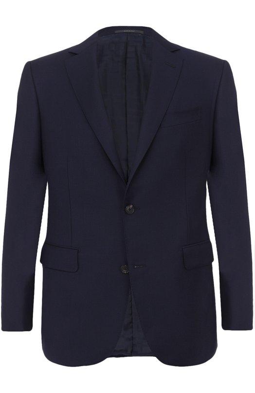 Купить Шерстяной однобортный пиджак Pal Zileri, 93900/32C/Z22/2, Италия, Темно-синий, Шерсть: 100%; Подкладка-купра: 100%;