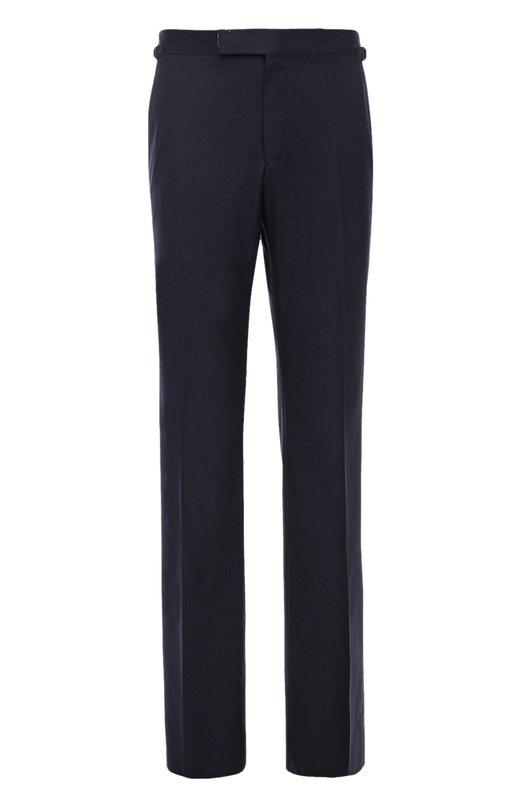 Купить Хлопковые брюки прямого кроя Tom Ford, 972R35610041, Швейцария, Темно-синий, Хлопок: 100%; Подкладка-купра: 100%;