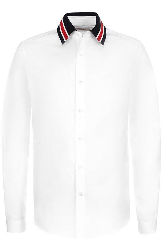 Хлопковая рубашка с контрастным воротником Valentino