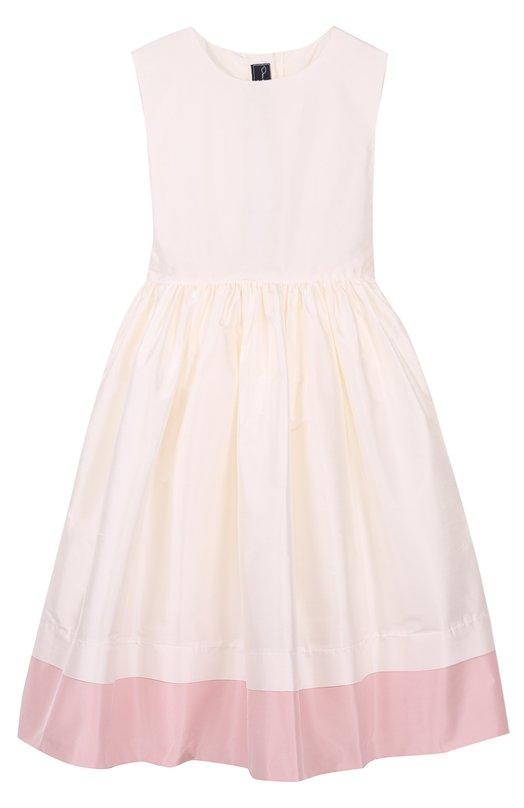 Шелковое платье-миди с пышной юбкой без рукавов Oscar de la Renta 02C696