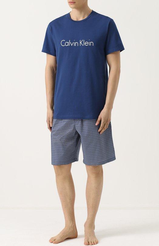 Хлопковая пижама с шортами Calvin Klein 000NM1384E