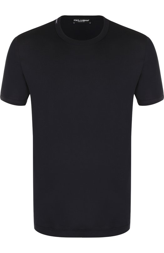 Купить Хлопковая футболка с круглым вырезом Dolce & Gabbana, 0101/G8HI7T/FU7EQ, Италия, Синий, Хлопок: 100%;